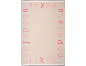 Joy Carpets Kid Essentials Infants & Toddlers Polka Dot ABC's Rug, Pink, 0.9m x 1.5m