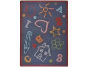 Joy Carpets Playful Patterns Kid's Art Children Area Rug, Chalkdust, 0.9m x 1.5m