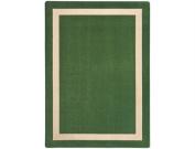 Joy Carpets Kid Essentials Misc Solid Colour Portrait Area Rug, Greenfield, 0.9m x 1.5m