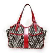 Mia Bossi Caryn Nappy Bag, Black Cherry