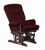 Shermag Black Walnut Grand Glider, Royce Cinnamon