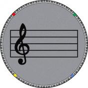 Joy Carpets Kid Essentials Music & Special Needs Round Play Along Rug, Grey, 2.1m