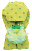 AM PM Kids! Green Dot Hooded Towel with Baby Loofah, Yellow