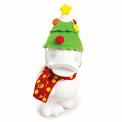 B.Duck Xmas Tree White Saving Bank, 16cm