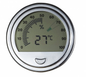 Visol Modern Large Circular Digital Hygrometer