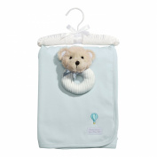 Baby Dumpling Heaven Sent Receiving Blanket and Rattle Gift Set, Boys, Blue