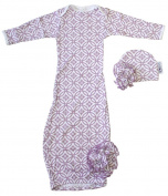 Woombie Indian Cotton Gowns Plus Hat, Purple Pizazz, 7.3-10kg