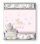 Silver Touch USA Sterling Silver Bath Time Picture Frame, Pink