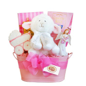 California Delicious Gift Basket, Girl Christening Blessings