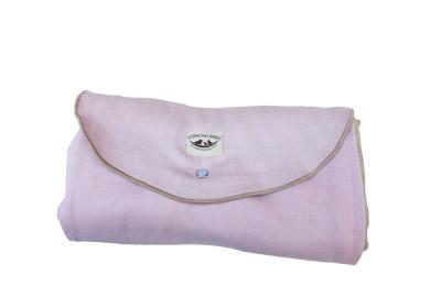 Poncho Baby Organic Blanket, Roly Blanket, Pink/Beige