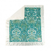 My Blankee Jody Minky Velour with Minky Dot Velour Cream and Cream Flat Satin Border, Baby Blanket 80cm x 90cm