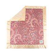My Blankee Julietta Minky Velour and Minky Dot Velour Latte and Latte Flat Satin Border, Baby Blanket 80cm X 90cm