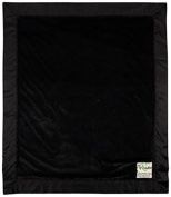 My Blankee Luxe Black with Flat Satin Border, Baby Blanket 80cm x 90cm