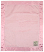 My Blankee Luxe Pink with Flat Satin Border, Baby Blanket 80cm x 90cm