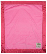 My Blankee Luxe Raspberry with Flat Satin Border, Baby Blanket 80cm x 90cm