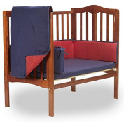 Baby Doll Reversible Port-a-Crib Bedding, Navy/Red