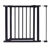Evenflo Walk-Thru Wood and Metal Pressure Gate, Black
