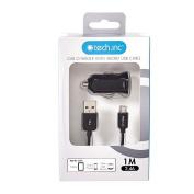 Tech.Inc Micro USB Car Charger 2.4A Black