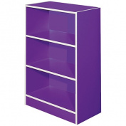 Solano Bookcase 3 Tier Purple