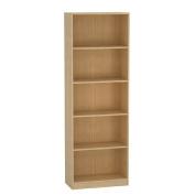 Living & Co Bookcase Birch 5 Tier Brown