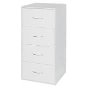 Living & Co Wardrobe Storage 4 Drawer Cabinet White