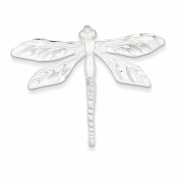 Sterling Silver Satin Finish Diamond Cut Dragon Fly Pin