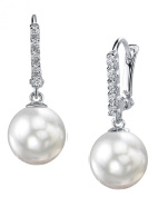 18K Gold White South Sea Cultured Pearl Britney Earrings