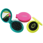 Cameo Essentials Hair Travel Brush with Mirror Assorted Colours