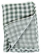 Lulujo Baby Reversible Muslin Cotton Swaddles Blanket, Warm Grey, 120cm x 120cm