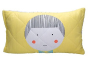 Organic Cotton Toddler Pillow Cover Pillow Protector with Wool Fill. Kids Pillow Case