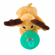 Denshine Infant Baby Newborn Silicone Pacifiers w/ Cuddly Plush Animal Baby Nipples