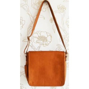 Oliver B Leather Nappy Bag, Carmel