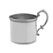 Empire Beaded Pewter Baby Cup