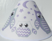 Purple Owl Lamp Shade / Children's Purple Owl Nursery Room Decor