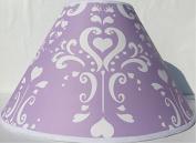 Purple Damask Lamp Shade / Childrens Lampshade Nursery Decor