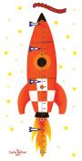 Rocketship Run! Peel & Stick Growth Chart Wall Decals - Laurie Berkner Edition