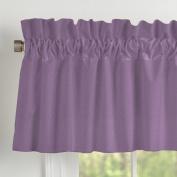 Carousel Designs Solid Aubergine Purple Window Valance Rod Pocket