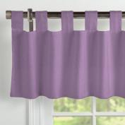Carousel Designs Solid Aubergine Purple Window Valance Tab-Top