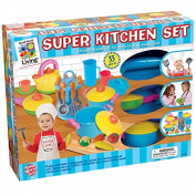 Small World Toys Living - Young Chef's Super Kitchen Playset 33-Pc. Set