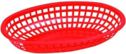 Winco Oval Fast Food Baskets, 26cm by 17cm by 5.1cm , Red
