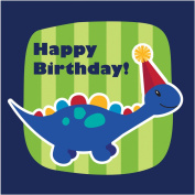 Creative Converting 16 Count Happy Birthday 3-Ply Little Dino Party Lunch Napkins, Blue/Green/Orange