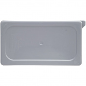 Rubbermaid Commercial Products FG115P29GRAY Cold Food Pan, Soft Sealing Lid, 1/4 Size, Grey