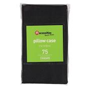 Necessities Brand Pillowcase Microfibre Standard Black