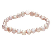 Pink Pearl Earring Necklace and Bracelet Set