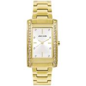 Pierre Cardin Ladies' Gold Rectangular Stone Set Watch