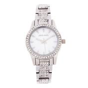 Pierre Cardin Ladies' Silver Crystal Set Watch