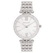 Pierre Cardin Ladies' Silver Plated Crystal Set Watch