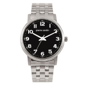 Pierre Cardin Stainless Steel Case with Black Dial Watch