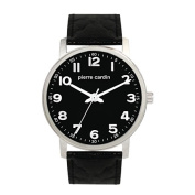 Pierre Cardin Stainless Steel Case with Black Dial/ Black Strap Watch