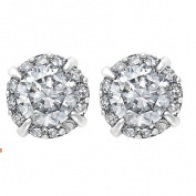 1/2 Carat of Diamonds 9ct Gold Diamond Earrings